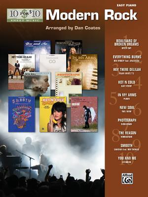 10 for 10 Sheet Music Modern Rock: Easy Piano Solos - Coates, Dan