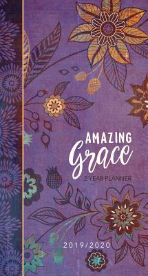 2019/2020 2 Year Pocket Planner: Amazing Grace (Purple with Orange Flowers): 89 x 165mm, Month-At-A-Glance Spreads for 2019/2020 Calendar Years, Encouraging Scriptures, Space for Things-To-Do Lists and Notes, Durable Interior Paper, Beautifully... - Belle City Gifts