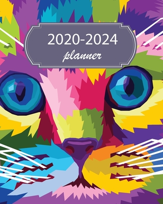 2020-2024 Planner: 5 Year Monthly Weekly Planner Calendar Schedule Organizer 60 Months With Holidays and Inspirational Quotes ( Colorful Cat Pop Art Purple ) - Stallworth, Joni
