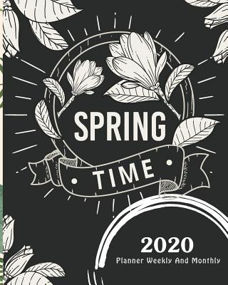 2020 Planner Weekly And Monthly: Black and White Floral, 12 Month Yearly Planner, January 2020 through December 2020 with Holiday - Stallworth, Joni