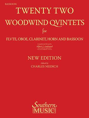 22 Woodwind Quintets - New Edition: Bassoon Part - Andraud, Albert (Composer)