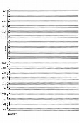 23. Score Pad: 20-Stave (Concert Band): Passantino Manuscript Paper - Hal Leonard Publishing Corporation (Creator)