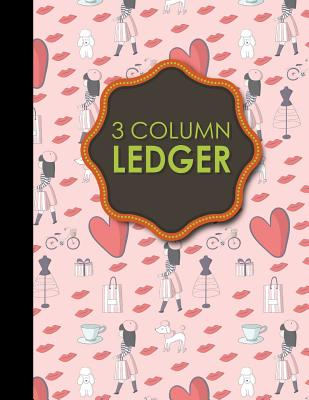 3 Column Ledger: Appointment Book, Accounting Ledger For Kids, Business Ledger Book, 8.5 x 11, 100 pages - Publishing, Moito