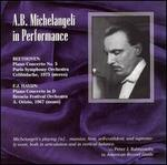 A.B. Michelangeli in Performance