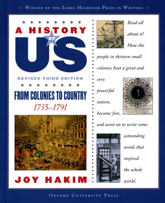 A History of US: From Colonies to Country: A History of US Book Three - Hakim, Joy