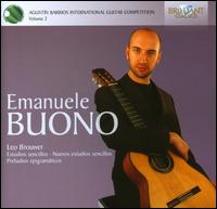Agustín Barrios International Guitar Competition, Vol. 2: Emanuele Buono - Emanuele Buono (guitar)