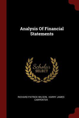 Analysis of Financial Statements - Wilson, Richard Patrick