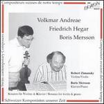 Andreae, Hegar, Mersson: Sonatas for Violin and Piano