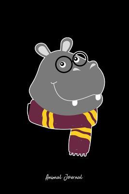 Animal Journal: Dot Grid Journal - Chubby Hippo Cute Hippopotamus Magic Wizard Gift- Black Dotted Diary, Planner, Gratitude, Writing, Travel, Goal, Bullet Notebook - 6x9 120 page - Animal Journal, Vepa Journals