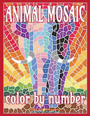 Animal Mosaic Color by Number: Activity Puzzle Coloring Book for Adults Relaxation & Stress Relief - Drawing, Sunlife