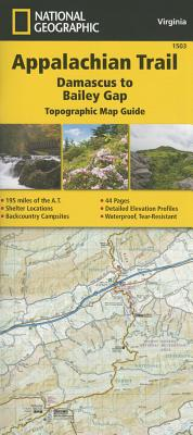 Appalachian Trail, Damascus to Bailey Gap [virginia] - National Geographic Maps - Trails Illustrated
