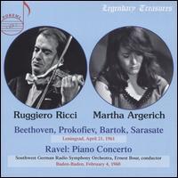 Argerich & Ricci - Leningrad 1961 - Martha Argerich (piano); Ruggiero Ricci (violin); SWR Baden-Baden and Freiburg Symphony Orchestra; Ernest Bour (conductor)
