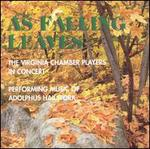As Falling Leaves: Music by Adolphus Hailstork