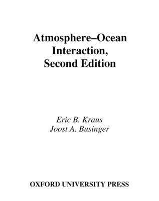 Atmosphere-Ocean Interaction - Kraus, Eric B
