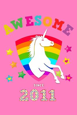 Awesome Since 2011: Unicorn Blank Guitar Tab Sheet Music Song Writing Notebook Pink Cover for Girls Born in 11 Notation Manuscript Tablature Note Book Paper for Students Teachers & Professional Guitarist Musician Chord Spaces (Staves Staffs) - Publications, Magicalhorse