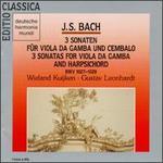 Bach: 3 Sonaten für Viola da Gamba und Cembalo