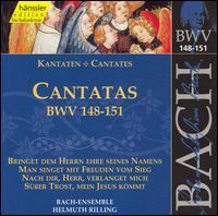 Bach: Cantatas, BWV 148-151 - Adalbert Kraus (tenor); Arleen Augér (soprano); Hanns-Friedrich Kunz (bass); Helen Watts (alto); Hildegard Laurich (alto);...