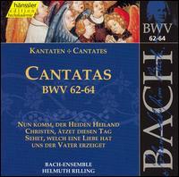 Bach: Cantatas, BWV 62-64 - Adalbert Kraus (tenor); Aldo Baldin (tenor); Ann Murray (alto); Arleen Augér (soprano); Helen Watts (alto);...