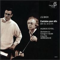 Bach: Cantatas for Solo Alto - Andreas Scholl (counter tenor); Marcel Ponseele (oboe); Markus Markl (organ); Collegium Vocale Orchestra;...