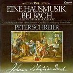Bach: Music in the Bach Home - Achim Beyer (violone); Dieter Zahn (violone); Eberhard Palm (violin); Eckhard Wagner (tenor); Franz Just (lute); Gisela Burkhardt (soprano); Gunther Schmidt (bass); Hermann Schicketanz (viola); Manfred Otte (violin); Peter Schreier (tenor)