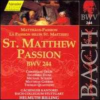 Bach: St. Matthew Passion - Christiane Oelze (soprano); Ingeborg Danz (alto); Matthias Goerne (bass); Michael Schade (tenor); Thomas Quasthoff (bass);...