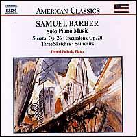 Barber: Complete Published Solo Piano Music - Daniel Pollack (piano)