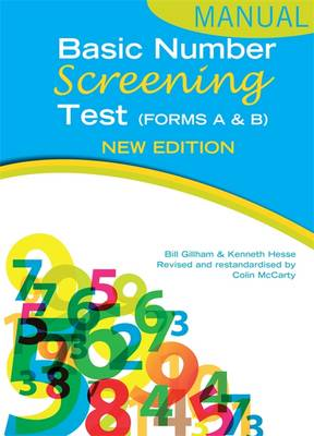 Basic Number Screening Test Manual - Gillham, Bill, and Hesse, Ken, and McCarty, Colin
