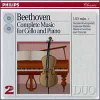 Beethoven: Complete Music for Cello & Piano - Jean Fran?aix (piano); Maurice Gendron (cello); Mstislav Rostropovich (cello); Sviatoslav Richter (piano)