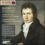 Beethoven: Septet Op. 20 for clarinet, horn, bassoon & strings; Weber/Küffner: Introduction, Theme & Variations; Stra
