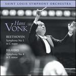Beethoven: Symphony No. 1; Brahms: Symphony No. 4