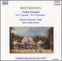 "Beethoven: Violin Sonatas Nos. 5 ""Spring"" & 9 ""Kreutzer"" - Jenö Jandó (piano); Takako Nishizaki (violin)"