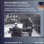 Beniamino Gigli: Buenos Aires & Rio de Janeiro - Beniamino Gigli (vocals); Elisabetta Barbato (soprano); Enrico Sivieri (piano); Enzo Mascherini (baritone);...