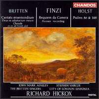 Benjamin Britten: Cantata misericordium; Deus in adjutorium meum; Chorale; Gerald Finzi: Requiem da Camera - Alison Barlow (soprano); Britten Singers (vocals); David Hoult (baritone); Edward Roberts (violin); John Alley (organ);...