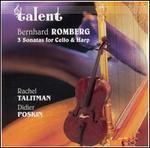 Bernhard Romberg: 3 Sonatas for Cello & Harp