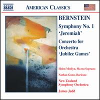 "Bernstein: Symphony No. 1 ""Jeremiah""; Concerto for Orchestra ""Jubilee Games"" - Nathan Gunn (baritone); New Zealand Symphony Orchestra; James Judd (conductor)"