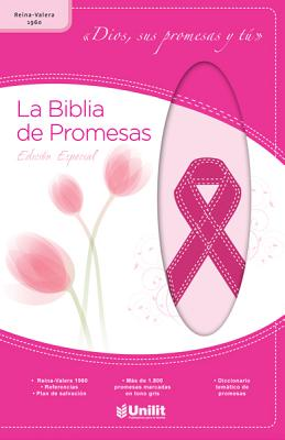 Biblia de Prom Piel Rosa ACA-Cncer: Promise Bible Leather Pink ACA-Cancer - Rv1960