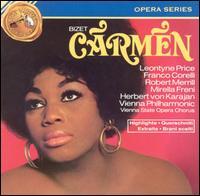 Bizet: Carmen [Highlights] - Bernard Demigny (baritone); Franco Corelli (tenor); Frank Schooten (bass); Geneviève Macaux (mezzo-soprano);...