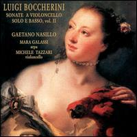 Boccherini: Sonate a Violoncello Solo é Basso, Vol. 2 - Gaetano Nasillo (cello); Mara Galassi (harp); Michele Tazzari (cello)