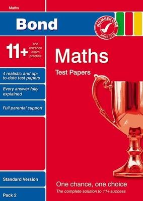 Bond 11+ Test Papers Maths Standard Pack 2 - Lindsay, Sarah