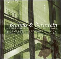 Brahms: Clarinet Quintet; Bernstein: West Side Story - Amsterdam Saxophone Quartet; George Pieterson (clarinet); Jaap van Zweden (violin); Jean Decroos (cello);...