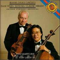 Brahms: Double Concerto; Piano Quartet, Op. 60 - Emanuel Ax (piano); Isaac Stern (violin); Jaime Laredo (viola); Yo-Yo Ma (cello); Claudio Abbado (conductor)