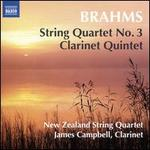 Brahms: String Quartet No. 3; Clarinet Quintet