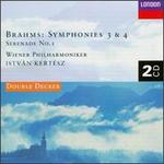 Brahms:  Symphonies Nos. 3 & 4; Serenade No.1