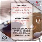 Brahms: Violin Sonata No. 1, Op. 78; Horn Trio, Op. 40; Vieuxtemps: Ballade et polonaise, Op. 38