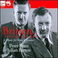 Britten, Seiber, Racine, Fricker, Walton: Music for Voice & Guitar - Julian Bream (guitar); Peter Pears (tenor)