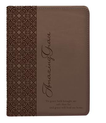 Brown Amazing Grace Luxleather Journal - Christian Art Gifts (Creator)