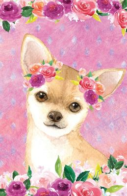 Bullet Journal for Dog Lovers Fawn Chihuahua in Flowers: 162 Numbered Pages with 150 Dot Grid Pages, 6 Index Pages and 2 Key Pages in Easy to Carry 5.5 X 8.5 Size. - Scales, Maz