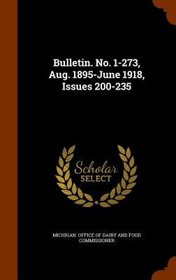 Bulletin. No. 1-273, Aug. 1895-June 1918, Issues 200-235 - Michigan Office of Dairy and Food Commi (Creator)