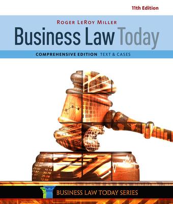 Business Law Today, Comprehensive - Miller, Roger