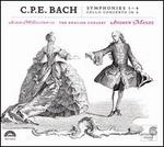 C.P.E. Bach: Symphonies 1-4; Cello Concerto in A - Alison McGillivray (cello); George Stoppani (cello); The English Concert; Andrew Manze (conductor)